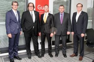 Dr. Ingo Wiedemeier, Harald Nickel, Sebastian Bartholomäus, Stefan Schüssler, Heiko von Glahn